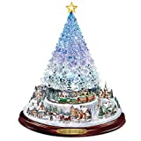 Thomas Kinkade Crystal Tabletop Christmas Tree: Lights Motion and Music by The Bradford Exchange