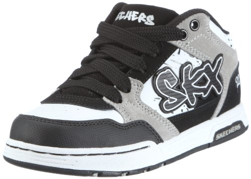 Skechers Boys Endorse Asher Trainers 91844L Bkgy Bkgy 12 UK