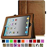 [New Release] Fintie Folio Case for Apple iPad 4th Generation with Retina Display, iPad 3 & iPad 2 Vegan Leather Stand with Smart Cover Auto Wake / Sleep - Vintage Antique Bronze