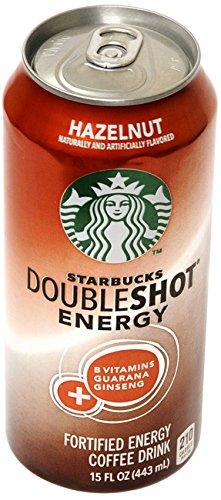 12 Pack - Starbucks Doubleshot Energy - Hazelnut - 15Oz.