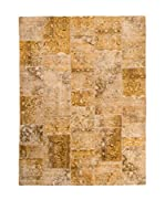 CarpeTrade Alfombra Vintage Persian Collage (Beige/Multicolor)