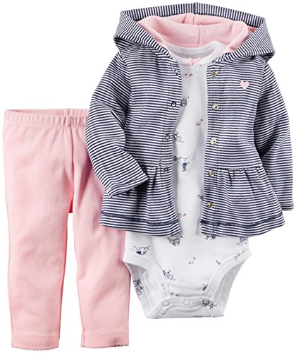 Carter's Baby Girls' 3 Piece Cardigan Set (Baby) - Pink - 6 Months