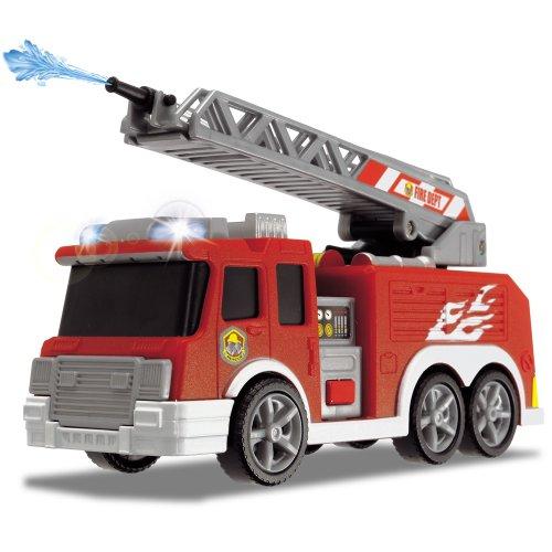 Dickie-el-Feuerwehr-Auto-Lschfahrzeug-Feuerwehrfahrzeug-Rettungswagen-Einsatz