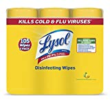 Lysol Disinfecting Wipes Value Pack, Lemon & Lime Blossom, 105 Wipes (3 Packs of 35 Wipes)