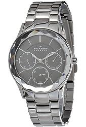 Skagen Women's 344LMXM Stainless Steel Charcoal Dial Watch