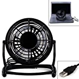 "HDE Ultra Quiet USB Powered Black 5.5"" Mini Desktop Adjustable Angle Table Fan"