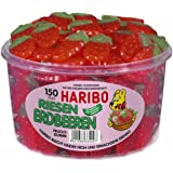 Haribo Riesen Erdbeeren ( Haribo giant Strawberries ) Tub -150 pcs