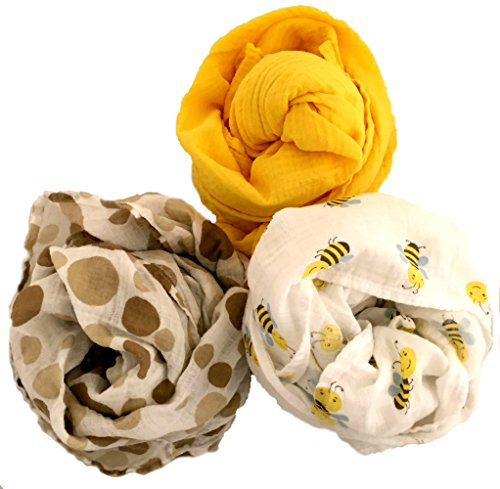 Bumblebee Cotton Muslin Swaddle Blankets by Baby Love