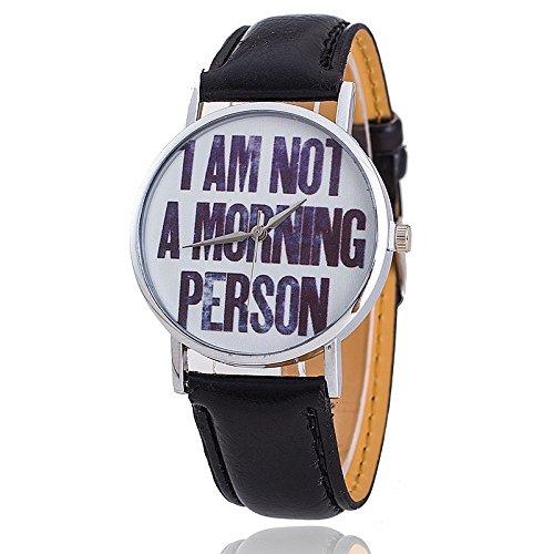 orologio-da-polso-unisex-quadrante-argentato-con-scritta-i-am-not-a-morning-person-cinturino-in-pell