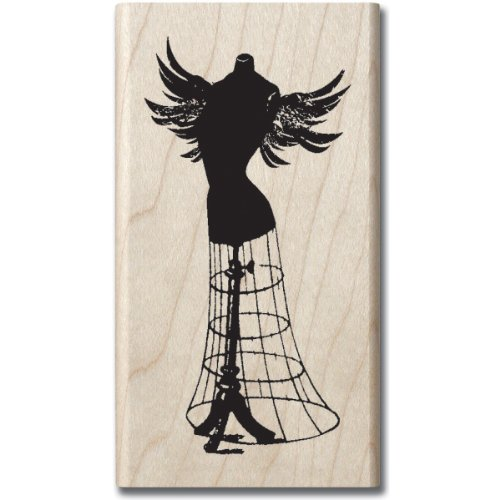 Hampton Art Graphi 45 Steam Punk Dress Form Rubber Stamp - 1
