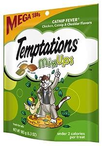 Whiskas Temptations Catnip Fever MixUps Mega Bag Treats, Pack of 10