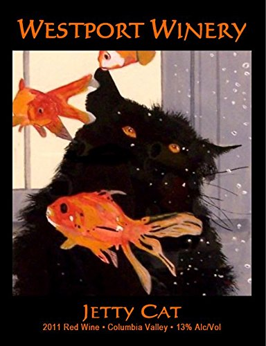 """2011 Westport Winery """"Jetty Cat"""" Red Blend (Benefits The Harbor Association Of Volunteers For Animals) 750 Ml"""
