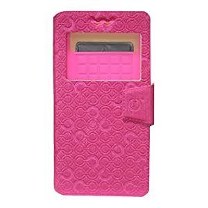 J Cover Astro Series Leather Pouch Flip Case With Silicon Holder For Spice XLife 511 Pro Pink
