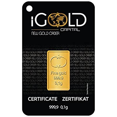 IGold Capital Goldbarren 0,10 Gramm IGR Goldbarren 0,1g,Istanbul Gold Refinery