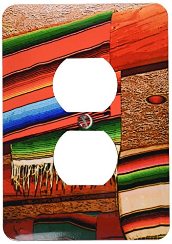 3dRose LLC lsp_64753_6 Blankets Hanging At A Mexican Restaurant  2 Plug Outlet Cover (Mexican Restaurant Lights compare prices)