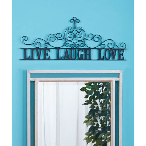 Live Laugh Love Metal Wall Art Decor Scroll