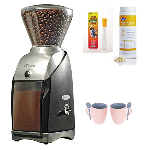 Baratza 685 Virtuoso Preciso Conical Burr Coffee Grinder + Urnex 3 Pack 35G Grindz Coffee Grinder Cleaner + Accessory Kit