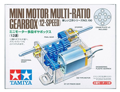 Tamiya Mini Motor Multi Ratio Gearbox 12-Speed TAM70190 - 1
