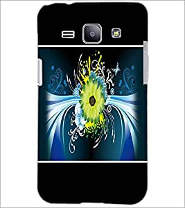 PrintDhaba Floral Pattern D-1393 Back Case Cover for SAMSUNG GALAXY J1 (Multi-Coloured)