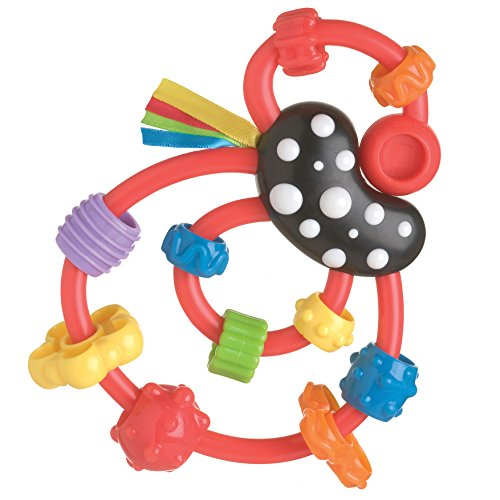 Playgro Giggle Squiggle Red Rattle for Baby
