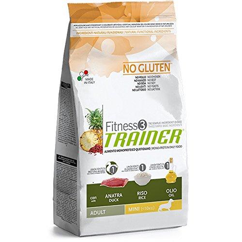 Trainer (Nova Foods) - Fitness 3 No Gluten Adult Mini con Anatra, Riso e Olio Sacco 2,00 kg