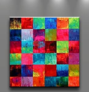 Amazon.com: Oil Painting Abstract Art on Canvas Cubism Wall Decor HUGE