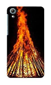 CimaCase Bonfire Designer 3D Printed Case Cover For HTC Desire 826
