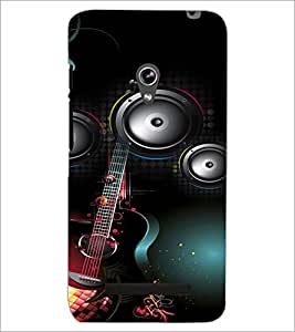 PrintDhaba Guitar D-4106 Back Case Cover for ASUS ZENFONE 5 A501CG (Multi-Coloured)