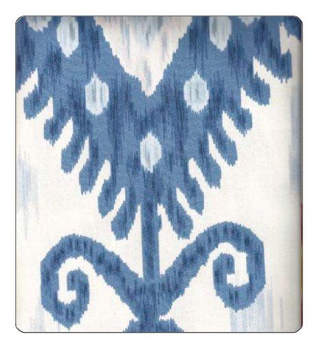 "Fabric Ikat Blue & White 54"""