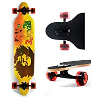 Cruiser Through 9.5x42 Sugar Maple Longboard Skateboard Complete by Backfire Skateboards Group