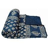 Total Furnishing Jaipuri Hand Block Print Traditional Desgin Double Bed Jaipuri Razai - Quilt