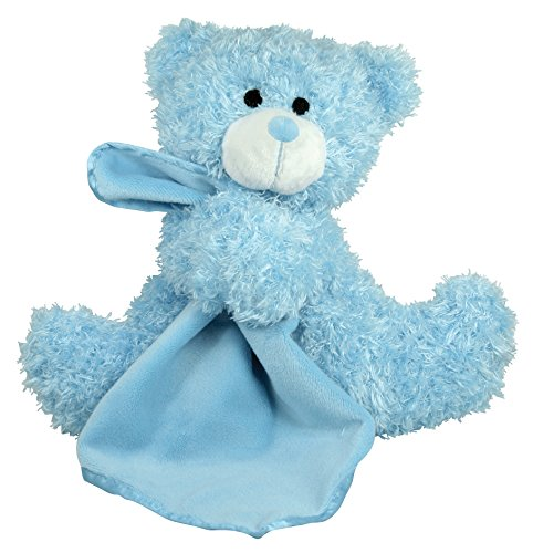 Stephan Baby Super Soft Plush Blankie Buddy Security Blanket, Blue Bear