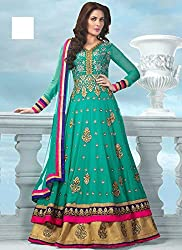 Shree Khodal Women's Blue Georgette Dress Material [SK_JCN1056_A]