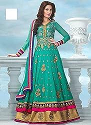 Diya Women's Blue Georgette Designer Dress Materials [DS_JCN1056_E]