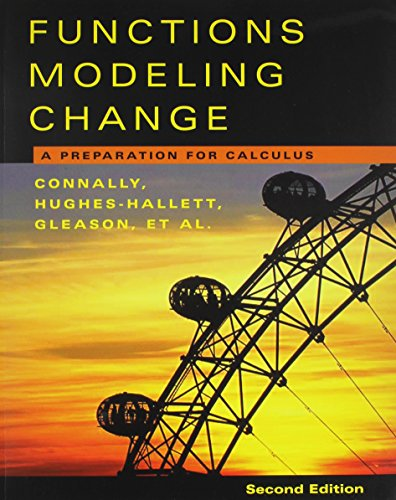 Functions Modeling 2nd Edition with Student Survey Set