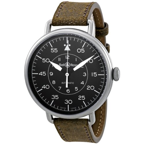 Bell & Ross Men's BRWW1-92MLTRY Vintage Brown Leather Strap Watch