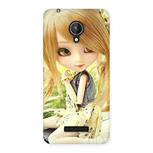 Special Cute Smiling Doll Multicolor Back Case Cover for Micromax Canvas Spark Q380