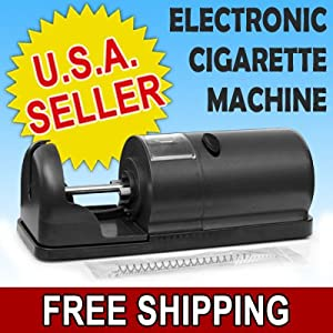 Black Electric Cigarette Tobacco Injector Tube Rolling Machine Roll Your Own NEW