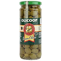 Olicoop Green Pitted Olives, 450g