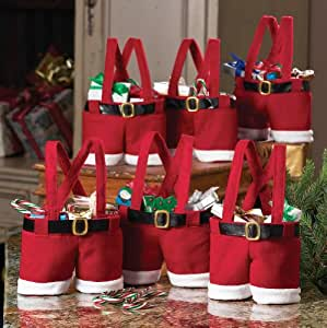 Collections Etc - Santa Pants Gift And Treat Bags
