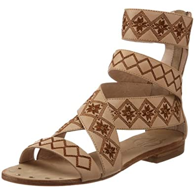 House of Harlow 1960 Women's Steffie Ankle-Strap Sandal, Cappuccino, 8.5 M US