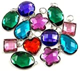 Large Gemstone Charms For Rubberband Bracelets (Set Of 12)