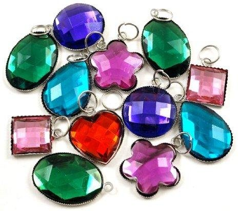 Large Gemstone Charms For Rubberband Bracelets