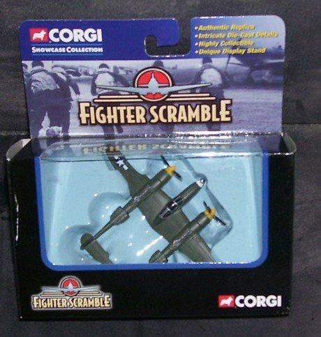 Corgi FIGHTER SCRAMBLE P-38 LIGHTNING GENTLE ANNIE Diecast Military Aircraft 2002 by Corgi