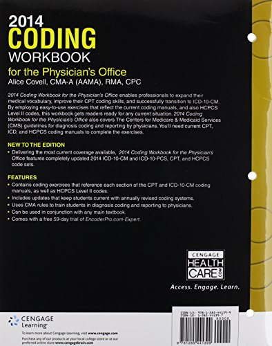 2014 Coding Workbook for the Physician's Office (with Cengage EncoderPro.com Demo Printed Access Card)