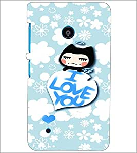 PrintDhaba Love Quote D-2931 Back Case Cover for NOKIA LUMIA 530 (Multi-Coloured)
