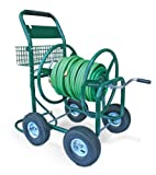Liberty Garden Products 872-2 Residential 350-Foot Capacity Four Wheel Steel Garden Hose Reel Cart Green