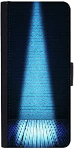 Snoogg Blue Interior Spotlight Backdropdesigner Protective Flip Case Cover Fo...