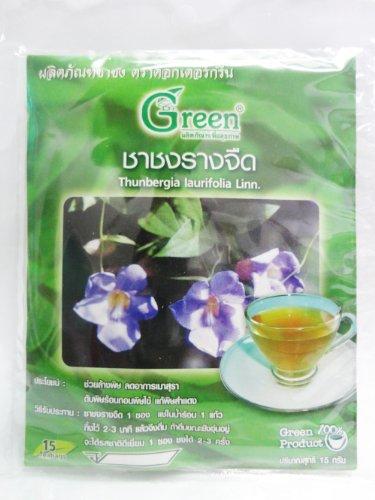 Dr. Green Brand Thunbergia Laurifolia Linn.Tea 15G (15 Tea Bags) X 2 Pack Thai