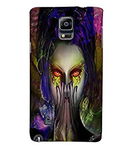 PrintVisa Modern Art Girl 3D Hard Polycarbonate Designer Back Case Cover for Samsung Galaxy Note 4